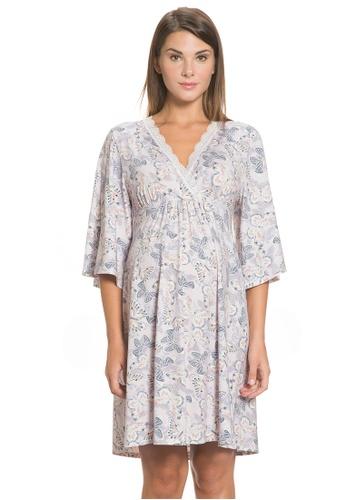 Mayarya pink Butterfly Bell Sleeve Maternity & Nursing Dress D962FAAD5491C8GS_1