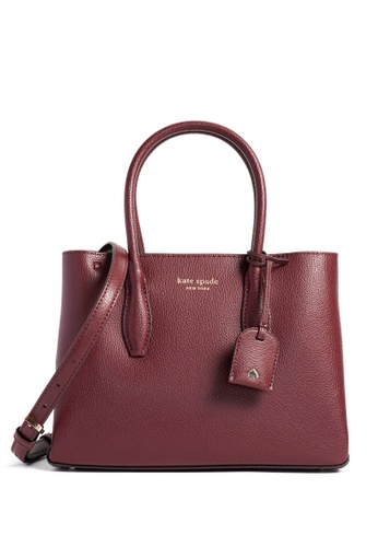 Kate Spade red Kate Spade Eva Medium Top Zip Satchel - Cherrywood DB4B5ACA499923GS_1