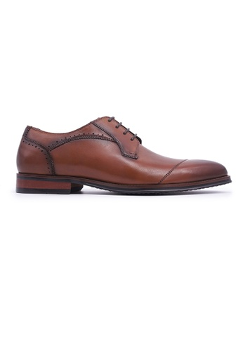 Rad Russel brown Rad Russel Lace-up Derby - Tan BC947SH2302A02GS_1