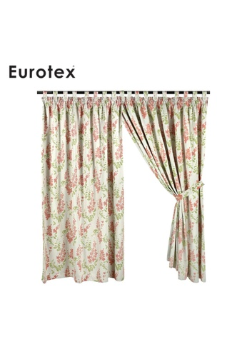 Eurotex Eurotex, Curtain, Block 90% Sunlight, 3 Ways Hanging Options (1 Piece) 8189 - Red AE749HL424D75AGS_1