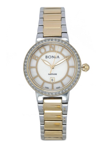 BONIA silver and gold Bonia BNB10324-2152S Silver/Gold Stainless Steel Watch BO777AC0SE0NMY_1