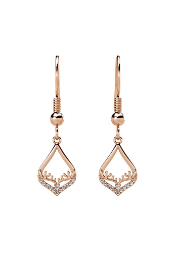 Her Jewellery gold Victorina Earrings (Rose Gold) - Made with Premium grade crystals from Austria DB3F4AC22D98B1GS_1