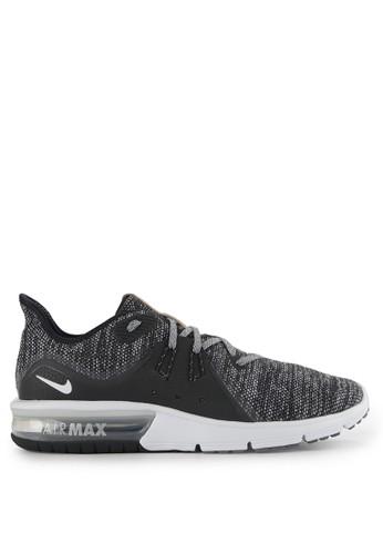 Nike black Men's Nike Air Max Sequent 3 Running Shoes NI126SH0WCKZID_1