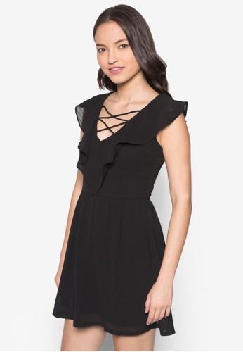 Lozalora 手錶 評價ve 荷葉飾連身裙, 服飾, 短洋裝