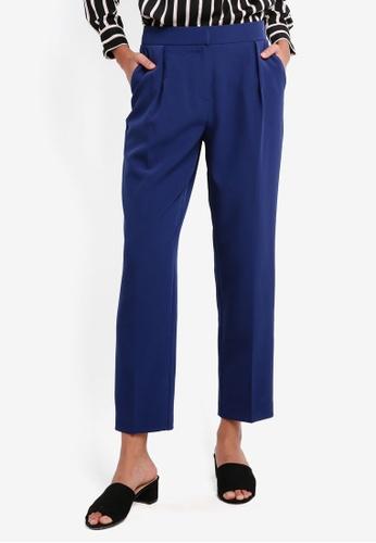 Dorothy Perkins navy Navy Elastic Waist Peg Trousers 9A628AAE045A32GS_1