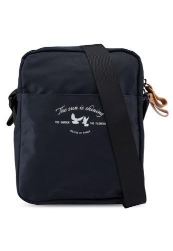 Bagstationz navy Lightweight Travel Sling Bag 26DA0AC4D54143GS_1