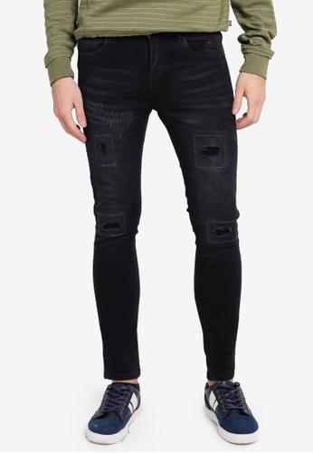 Penshoppe black Super Skinny Fit 5-Pocket Jeans PE124AA0SN0UMY_1