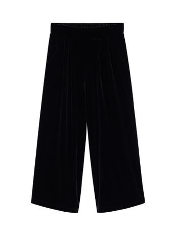 MANGO KIDS black Velvet Trousers 3E64CKA706C6C9GS_1