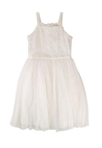 FOX Kids & Baby white Kids Girl Sequin Dress D7668KA735838AGS_1