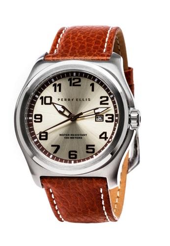 PERRY ELLIS brown Perry Ellis Memphis Men 44mm Quartz Watch 04003-01 70E02ACC8D4ACAGS_1
