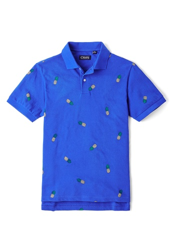 Buy Chaps Short Sleeve Pique Polo Pineapple Online Zalora Malaysia
