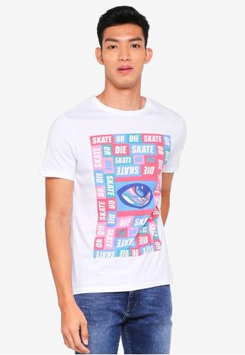 Burton Menswear London 白色 短袖印花T恤 765B5AAD721D7AGS_1