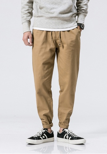 hk-ehunter beige Casual Regular Fit Pants 53CEDAAC798B4CGS_1