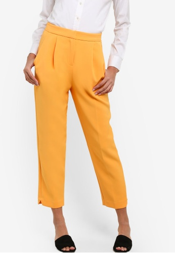 TOPSHOP orange Split Hem Peg Trousers TO412AA75NTWMY_1