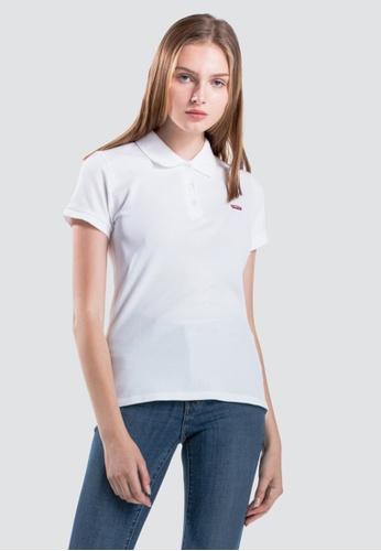 460b91c45d7f2 Levi s white Levi s Womens Slim Polo Shirt 52599-0000 85D14AAF333B6DGS 1