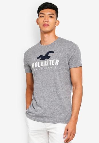 Hollister 灰色 短袖印花T恤 64210AA6AEEB4CGS_1