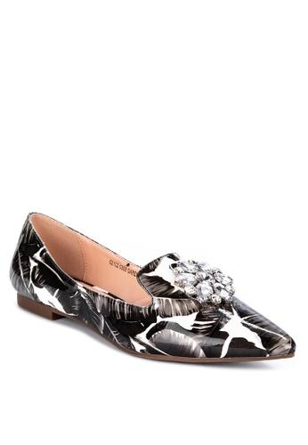 S&H black Garenne Pointed Toe Flats BA87FSH55A5282GS_1