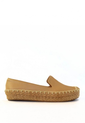 HDY white and brown and beige Helena Espadrille Slip-On HD484SH17TLIPH_1