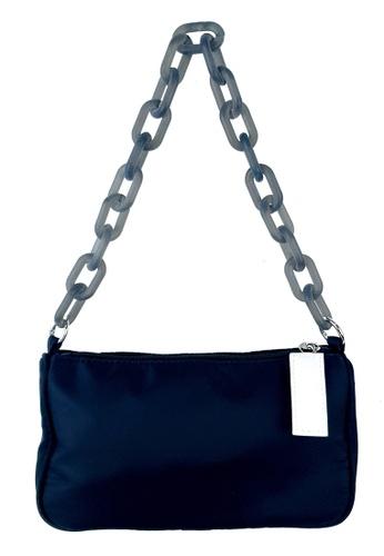 BELLE LIZ black Acrylic Chain Nylon Shoulder Ladies Bag Black 2C5B9AC43CEFCCGS_1