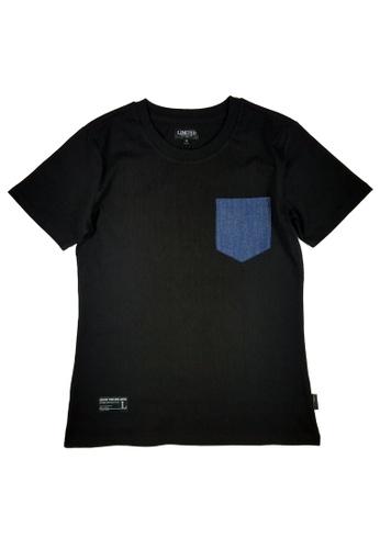 L.I.M.I.T.E black Printed & Chest Pocket  T-Shirt LI425AA0FCK2SG_1