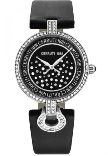CERRUTI 1881 black Ferrara II Black Strap Black Dial Ladies Watch CE514AC60QNRMY_1