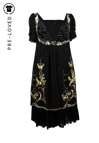 Anna Sui 黑色 二手 anna sui 黑色真絲連衣裙 A8042AA91BBD9EGS_1