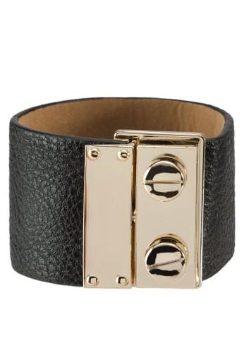 金屬推扣皮革手環zalora 台灣, 飾品配件, 其他