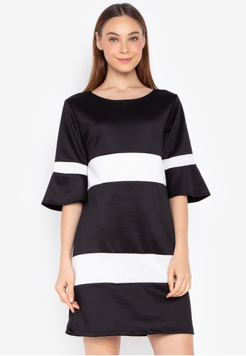 Shop F101 Quarter Sleeve Dress With Combi Online On Zalora Philippines