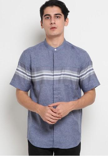 Police Denim blue Koko Short Sleeve Shirt 25430AA5EDF63AGS_1