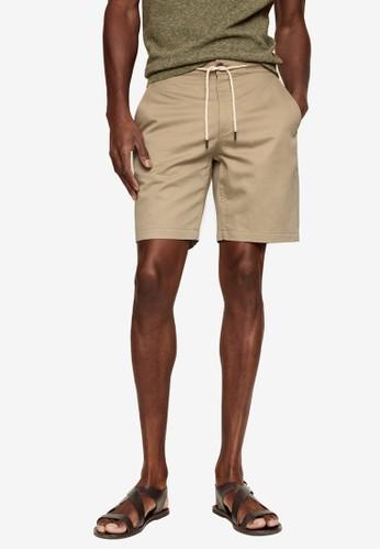MANGO Man beige Drawstring Cotton Linen Bermuda Shorts 8FCDDAA95E4C80GS_1