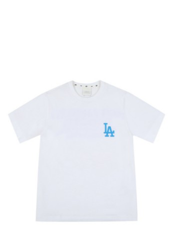 MLB white POPCORN21 SHORT SLEEVE T-SHIRT LA DODGERS WHITE 368BEAA366DD35GS_1