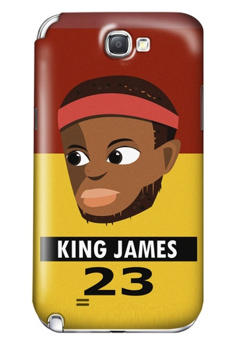 Wonder Cover black and brown and red and yellow and gold King James Matte Hard Case for Samsung Galaxy Note 2 WO617AC01AICPH_1