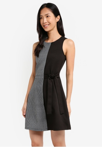ZALORA black and multi Self Tie Dress D6425AA5C32E56GS_1
