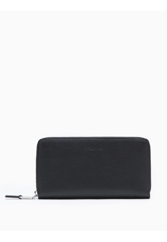 Buy Calvin Klein Leather Zip-Around Wallet Online on ZALORA Singapore b11ad99e0