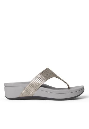 Vionic silver Naples Platform Sandal 512DESH963E521GS_1