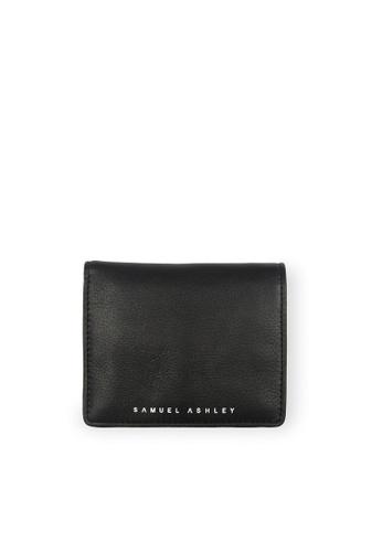 Samuel Ashley black Logan Vertical Bi-fold Wallet with Coins (RFID) - Black/Dark Blue 0CA28AC5AEB995GS_1