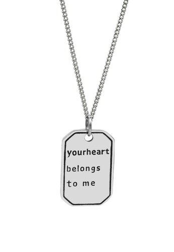 LYCKA silver LDR1223 S925 Silver Romantic Quote Necklace 1903AAC51A5072GS_1