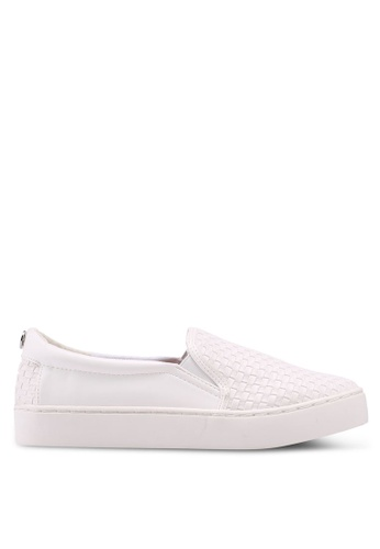 TOPSHOP white White Taylor Woven Slip On Trainers 1C2F6SHAA4B66AGS_1