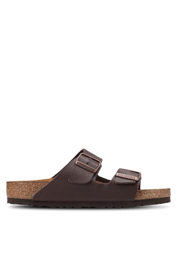 Birkenstock brown Arizona Birko-Flor Sandals BI090SH54HNPMY_1