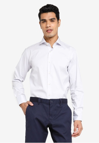 Sacoor Brothers purple Slim fit super comfort easy iron shirt 5CE9DAAE50B699GS_1