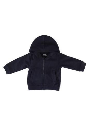 Babybol navy Baby Full Zip Hoodie 9EC84KAA23194EGS_1