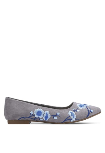 Nose grey Cherry Blossom Printed Pumps NO327SH0RC91MY_1