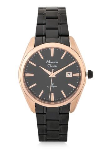 Alexandre Christie black Alexandre Christie Jam Tangan Wanita - Black Rosegold - Stainless Steel - 8515 LDBBRBA 9E4A2ACB117C7EGS_1