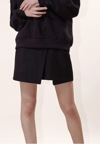 OUTSTANDING ORDINARY black Prejudice Wrap Skirt OU203AA0GIGNSG_1