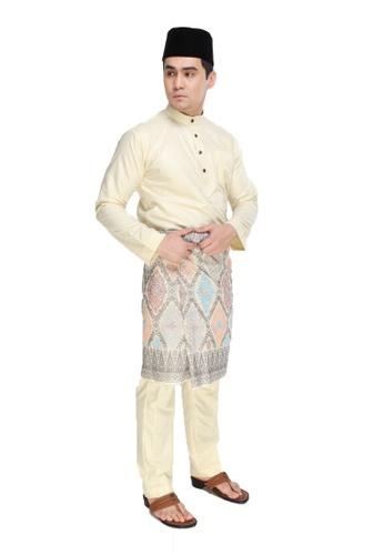 Amar Amran yellow Baju Melayu Moden 52393AAC4A59B0GS_1