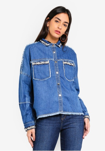 Guess blue Denim Shirt 6C1ECAA57302F6GS_1