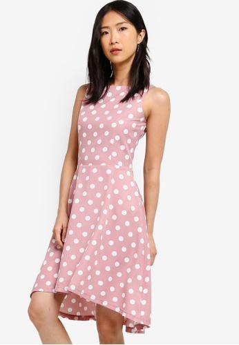 ZALORA BASICS pink Basic Dipped Hem Dress 19C96AAE49633BGS_1