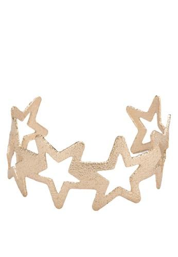 Jazlyn 星星鏤空開口手鐲, 飾品esprit衣服目錄配件, 手鐲 & 手環