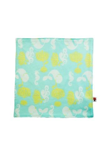 Vauva green Vauva Baby Organic Cotton Ocean Whale Towel 30314KC0D7E865GS_1