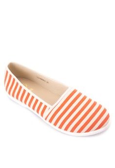 Striped Slip On Canvas Shoes Sneakers